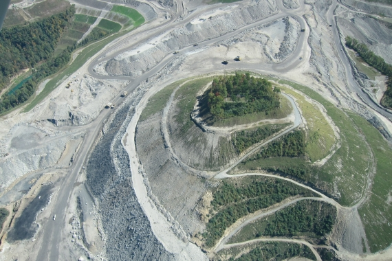 Family cemeteries surrounded by active mountaintop removal coal mining sites. Image source: Ann Cornell.