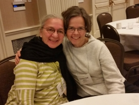 Andrea Bretting, left, and Christine James, at HEFN's 2015 Annual Meeting