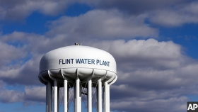 Flint Lead Poisoning Image - Flint Water Tower