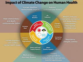 Centers for Disease Control graphic on climate change impacts on human health