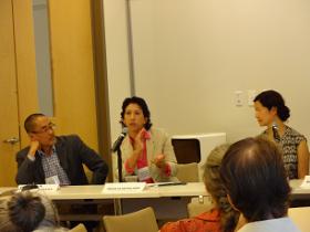David Fukuzawa, Cecilia Estolano and Miya Yoshitani at HEFN 2014 Annual Meeting