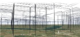 Graphic illustration of North Dakota wells if they were above ground