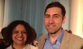 Ramtin and Kim Wasserman Goldman reception
