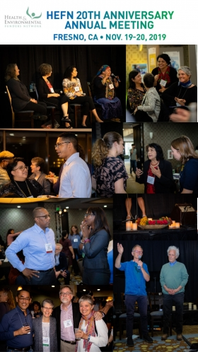 Photos collage of 2019 HEFN Annual Meeting & 20th Anniversary in Freno, CA