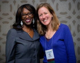 Jalonne L. White-Newsome, left, and Amy Panek at HEFN's 2019 Annual Meeting