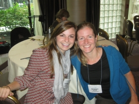 Lauren Davis and Shorey Myers at HEFN's 2013 Annual Meeting. Image source: Andrea Levinson, HEFN