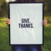 Give.Thanks./ Unsplash Image by Simon Maage