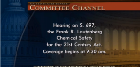 Screenshot of Senate Committee Channel